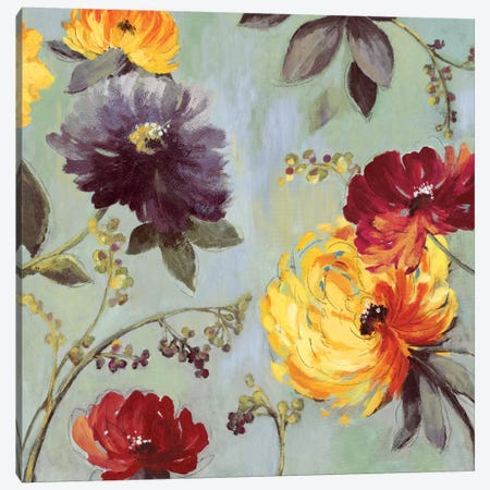 Field Flowers I Canvas Print #ASJ85} by Asia Jensen Art Print