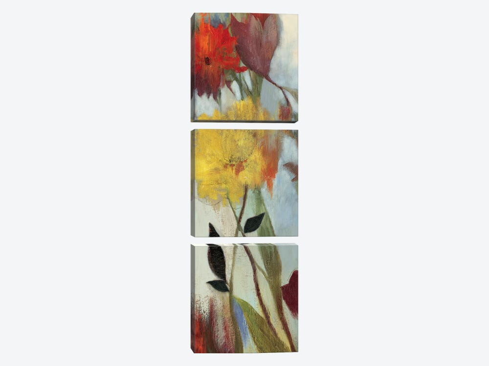Floral Medley I by Asia Jensen 3-piece Canvas Art Print