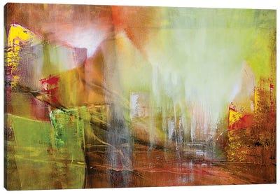Green Transparency Canvas Art Print