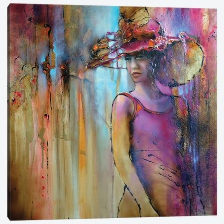 Laura With Hat Canvas Print #ASK106} by Annette Schmucker Art Print
