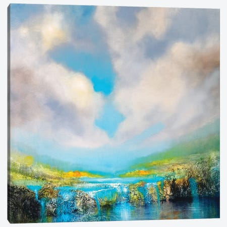 At The Waterfall Canvas Print #ASK14} by Annette Schmucker Canvas Print