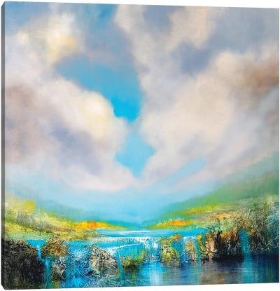 At The Waterfall Canvas Art Print