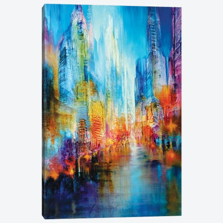 Big City Canvas Print #ASK18} by Annette Schmucker Canvas Wall Art