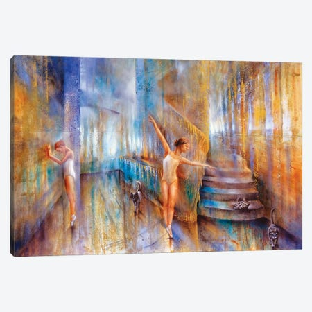 Cats Canvas Print #ASK22} by Annette Schmucker Canvas Art Print