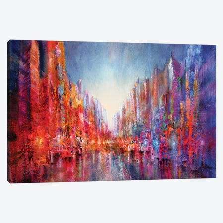 City On The River I Canvas Print #ASK24} by Annette Schmucker Canvas Art