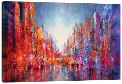 City On The River I Canvas Art Print