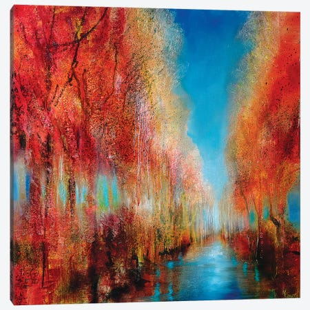 Indian Summer Canvas Print #ASK48} by Annette Schmucker Canvas Art Print