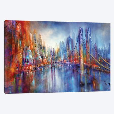 On Road Canvas Print #ASK59} by Annette Schmucker Canvas Artwork