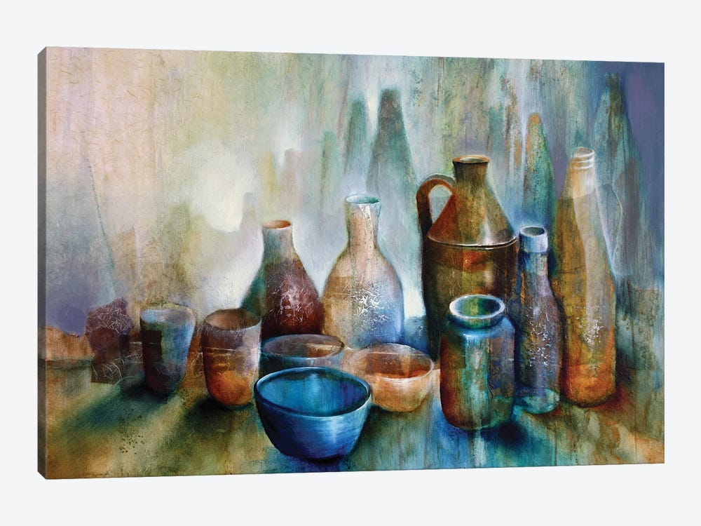 Still Life With Blue Bowl by Annette Schmucker 1-piece Art Print