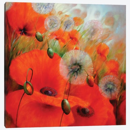 Summer Feeling Canvas Print #ASK72} by Annette Schmucker Canvas Artwork
