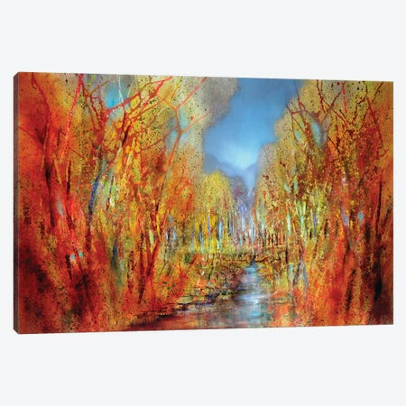 The Forests Colourful Canvas Print #ASK79} by Annette Schmucker Canvas Art