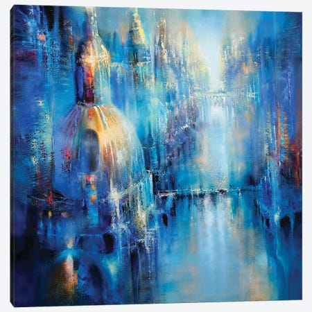 The Old Town Canvas Print #ASK81} by Annette Schmucker Canvas Print