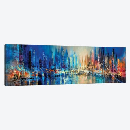 The Town Canvas Print #ASK83} by Annette Schmucker Canvas Print