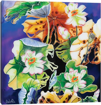 Five Lilies Canvas Art Print