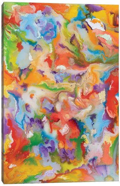 Orange Abstract Canvas Art Print
