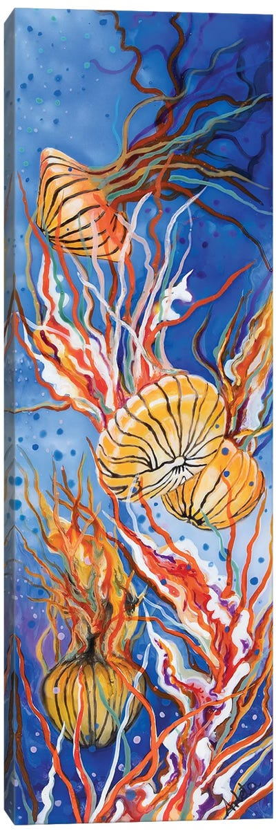 Orange Jellyfish Canvas Art Print