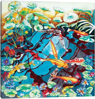 Orange Koi Canvas Art Print