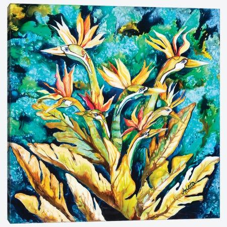 Paradise Birds Canvas Print #ASL21} by Arleta Smolko Canvas Artwork