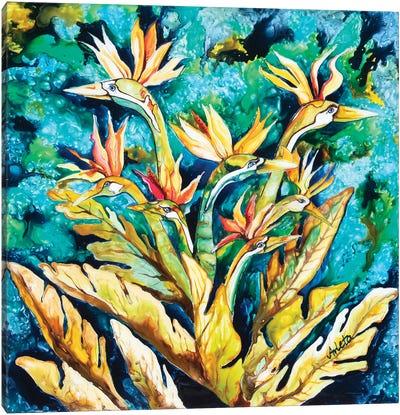 Paradise Birds Canvas Art Print