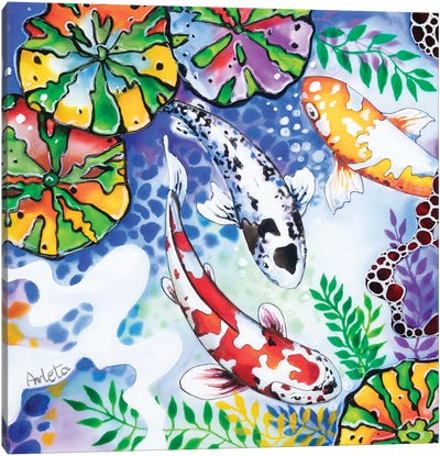 Three Koi Canvas Art Print