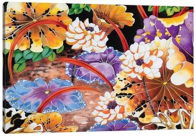 Blue Lilies Canvas Art Print
