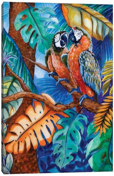 Two Parrots Canvas Art Print