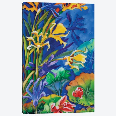 Yellow Iris Canvas Print #ASL34} by Arleta Smolko Canvas Art