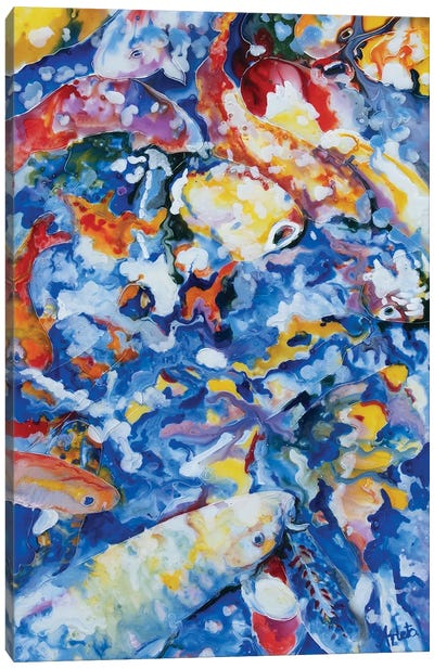 Yellow Koi Canvas Art Print