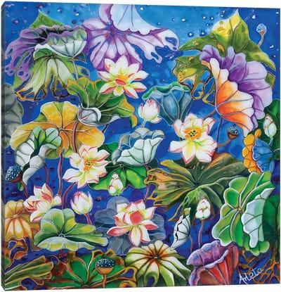 Candy Lilies Canvas Art Print