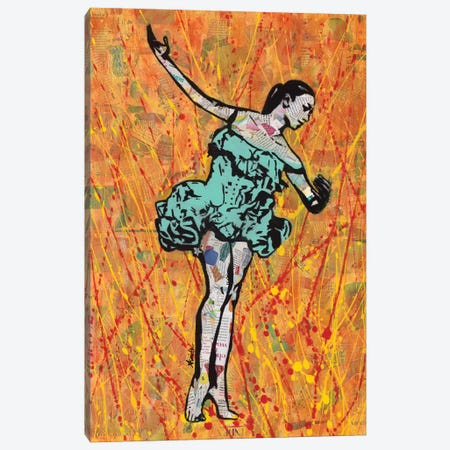 Fire Dancer Canvas Print #ASM12} by Amy Smith Canvas Wall Art