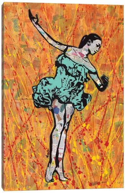 Fire Dancer Canvas Art Print