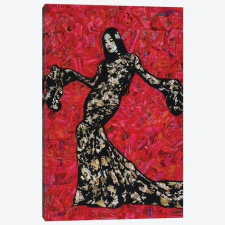 Gold And Lace Canvas Print #ASM14} by Amy Smith Canvas Print