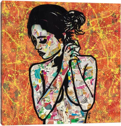 Listening Canvas Art Print