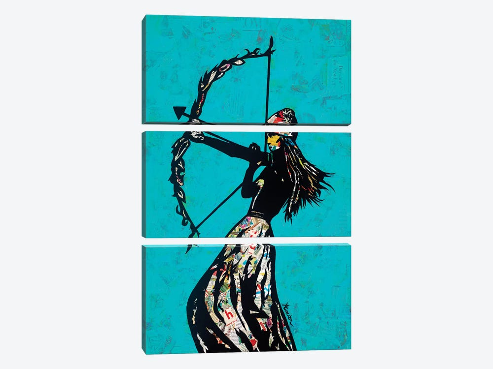 The Archer by Amy Smith 3-piece Canvas Artwork