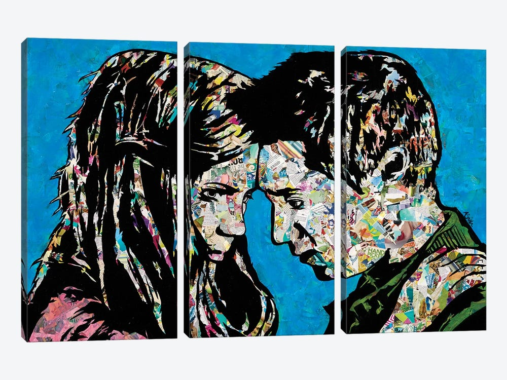 The Girl Who Waited by Amy Smith 3-piece Canvas Art