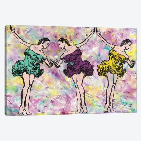 Trio In Pink 3-Piece Canvas #ASM34} by Amy Smith Canvas Art Print