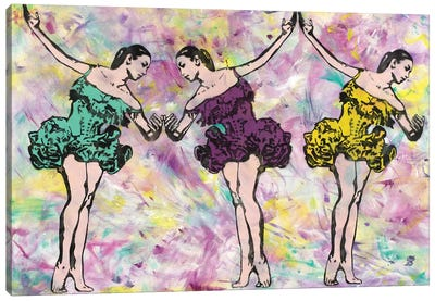 Trio In Pink Canvas Art Print