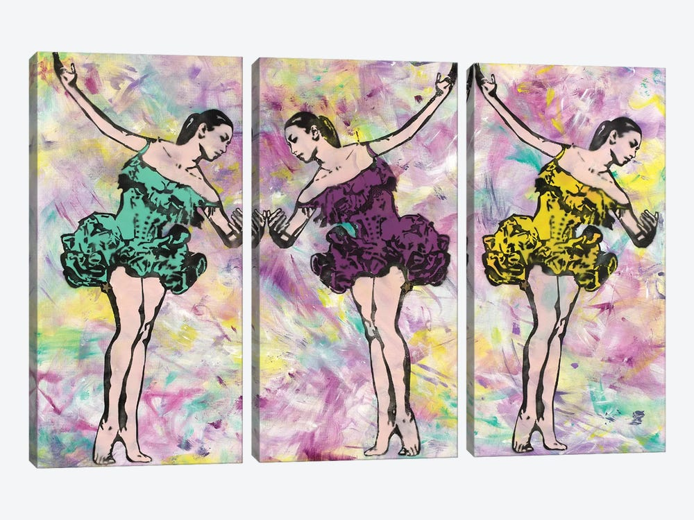 Trio In Pink by Amy Smith 3-piece Canvas Art