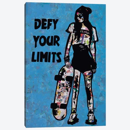 Defy Your Limits Canvas Print #ASM8} by Amy Smith Canvas Artwork