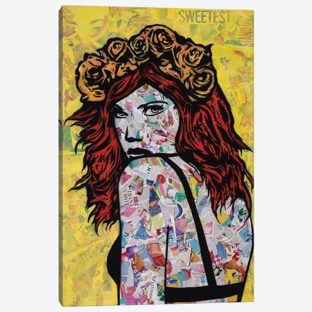 Em On Fire Canvas Print #ASM9} by Amy Smith Canvas Art
