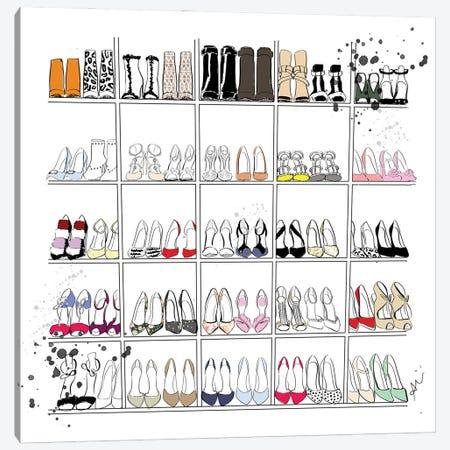 Shoe Closet Canvas Print #ASN11} by Alison Petrie Canvas Art Print
