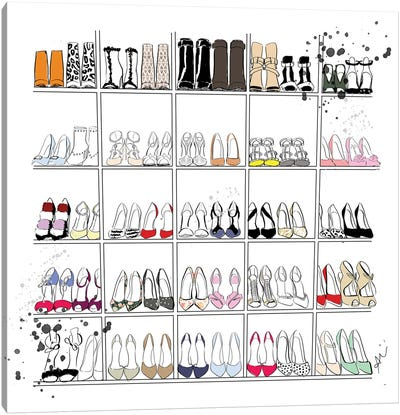 Shoe Closet Canvas Art Print
