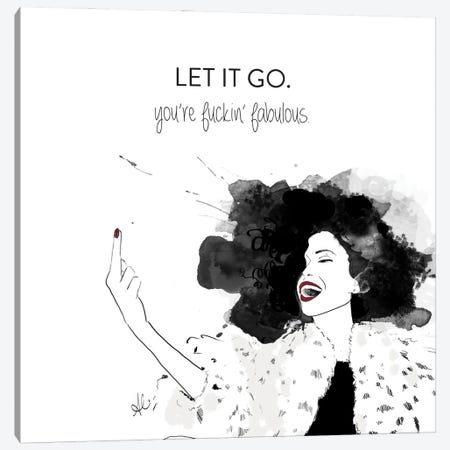 Let It Go Canvas Print #ASN23} by Alison Petrie Canvas Artwork