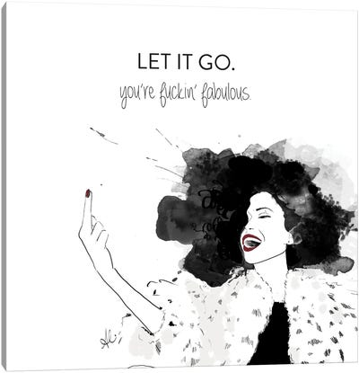 Let It Go Canvas Art Print