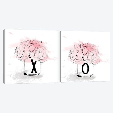 X Bouquet Diptych Canvas Print Set #ASN2HSET001} by Alison Petrie Canvas Artwork