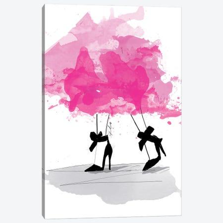 Pretty In Pink Canvas Print #ASN33} by Alison Petrie Canvas Art Print