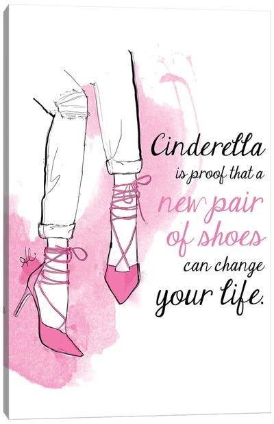 Cinderella Shoes Canvas Art Print