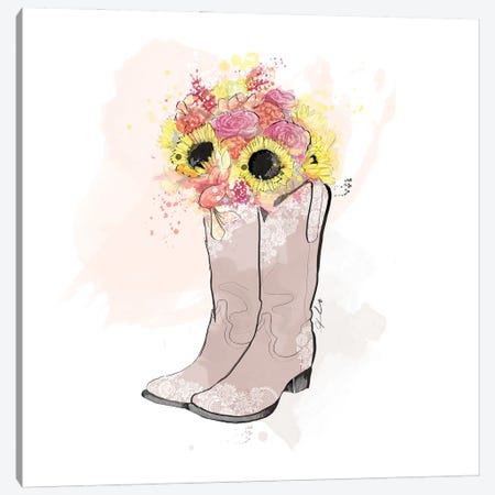 Country Love Canvas Print #ASN38} by Alison Petrie Canvas Print