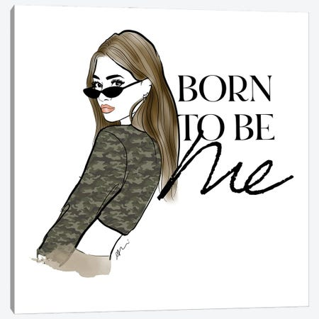Born To Be Me Canvas Print #ASN3} by Alison Petrie Art Print