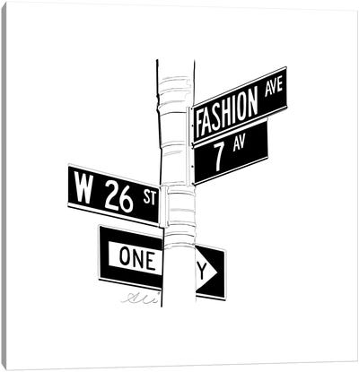 Fashion Ave Canvas Art Print